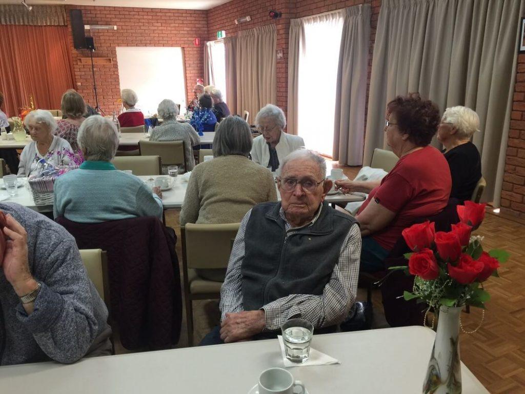 Seniors Enjoying 7th Heaven Entertainers