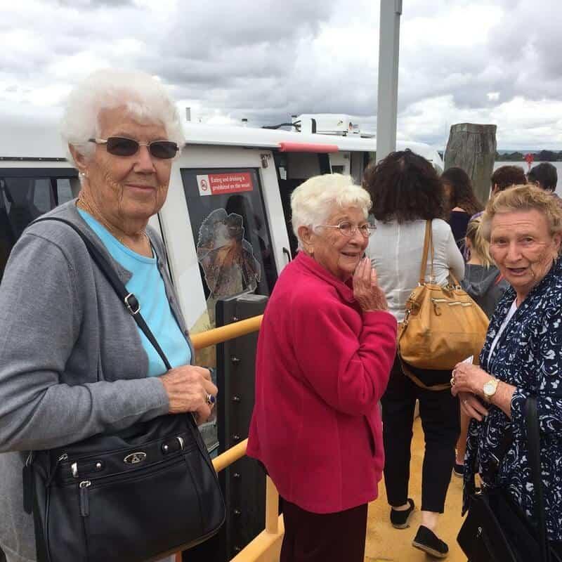 Social group en route to Elizabeth Quay
